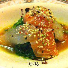 Insalata di alghe e sashimi...