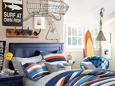 I love the PBteen Bondi Stripe Bedroom on pbteen.com