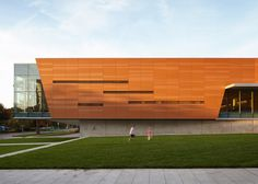 Gould Evans has revamped a 1970s concrete library in Kansas, wrapping the building in a terracotta rainscreen.