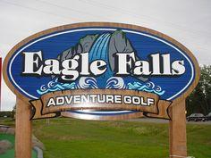 Sign designed for Eagle Falls