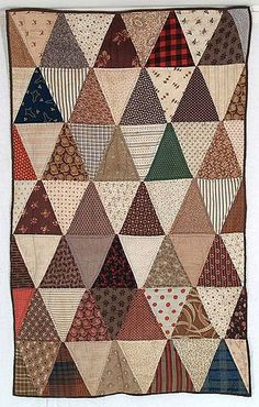 Triangles doll quilt c.1870.