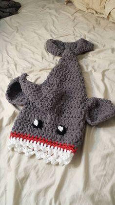 Eaten by a Shark Blanket Baby Size Preschool by misscrazyhandmade