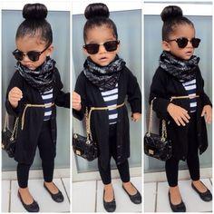 I will definitely dress my little girl like this #kardashainkids