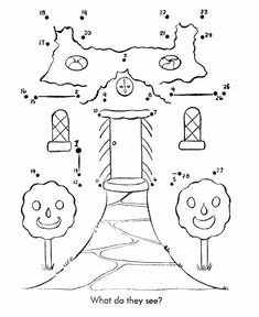 Dot-to-Dot Nursery Rhyme Page | Hansel and Gretel Gingerbread house