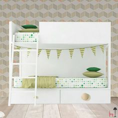 Vagon bunk bed with drawers by Lagrama: the perfect solution to decorate in style using designer furniture.