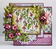 Designs by Marisa: Heartfelt Creations - Cascading Fuchsia Collection
