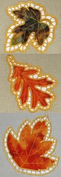 Cutwork Applique Leaf Set