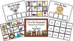 ***Updated 2013***   These mats can be used in a variety of ways.   You can have your kids sort the pictures, the words, or both!   You can use the cards as a memory game.You can also use this as a game for 4 children to play together.   *Choose 4 letters to focus on.   *Have each child take a mat.   *Put the pieces for these letters in a bag or box.   *Each child chooses a piece. If the piece can be placed on their mat, they lay it down. If not, they put it back into the bag.