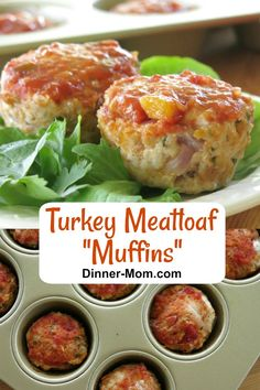 Healthy Turkey Meatloaf Muffins with zesty salsa and cheese cook in under 30 minutes in a muffin pan. Easy recipe with just 5 ingredients! Turkey Meatloaf Muffins, Ground Turkey Meatloaf, Cheese Stuffed Meatloaf, Easy Meatloaf, Ground Turkey Recipes, Meatloaf Recipes, Meatball Recipes, Mexican Dinner Recipes, Healthy Dinner Recipes