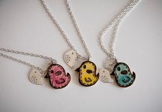 Necklace with two birds bird pendant girly by SilviaWithLove, €9.80