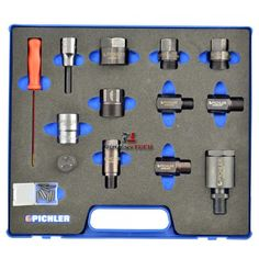 Zestaw adapterów do demontażu wtryskiwaczy 12 części PICHLER