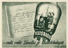 Mainos: Radion kuuntelulupa, 1927