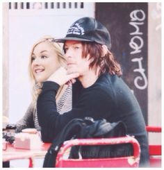 Normily, Emily Kinney and Norman Reedus. The Walking Dead cast couple