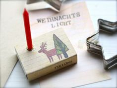 Schachtellicht mit Rentier von TikiOno aus Bremen. Gefunden auf Viele Sachen. Da gibt´s noch mehr originelle Mini-Lichter. #xmas #bremen