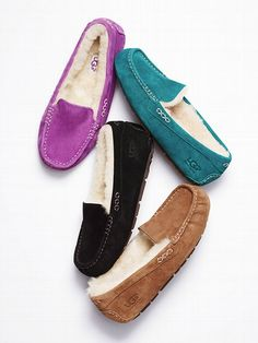 UGG® Australia Ansley Suede Moccasin want pale pink (with breast cancer ribbon) at the walking company store