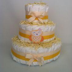 Diapercake cute owl - Luiertaartkopen.com