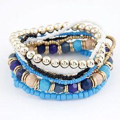 Bohemian Beads Multi Layered Bracelet