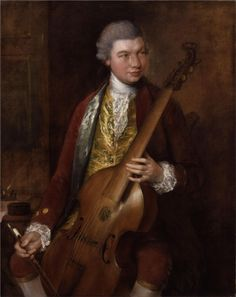 Nice threads. Carl Friedrich Abel, musician.  Notice the lace ruffles on the front and by the cuffs. The rococo period is the last time that men's fashion tolerated lace.  Thomas Gainsborough - WikiPaintings.org