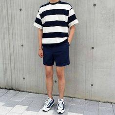 Trendy Ideas For Fashion Trends 2018 Menswear Korean Outfits, Short Outfits, Trendy Outfits, Cool Outfits, Summer Outfits, Fashion Outfits, Mode Streetwear, Streetwear Fashion, Look Fashion