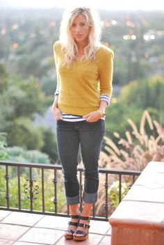 I know not everyone loves yellow, but I love a good mustard sweater/cardigan.