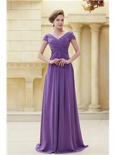 Buy Delicated Pleats Sheath V-Neckline Floor-Length Ela's Mother of the Bride Dress  Online, Dresswe.Com offer high quality fashion,Price: USD$102.99