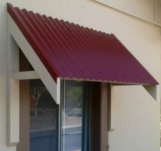 Window Awnings Using Colorbond Roof Sheeting