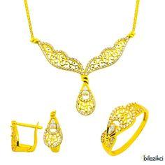 Label Jewelry Telkari 22 Ayar Altın Takı Seti