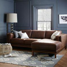 Dekalb 2-Piece Premium Leather Sectional | west elm