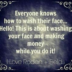 Your best option while washing your face with RODAN + FIELDS amyhartman.myrandf.com