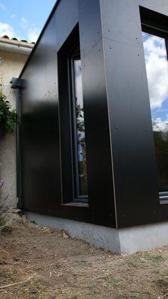 bardage anthacite résine extension de maison par cube in life