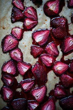 Roasted strawberries, now why didn't I think of this!  Can hardly wait to try it!