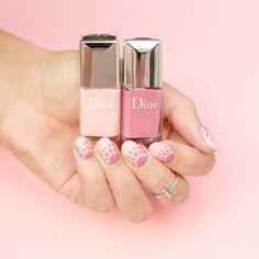Dior Nail Polish, Dior Nails, Polka Dot Nails, Pink Polka Dots, Pink Nail, Dot Nail Designs, Nail Art Kit, Nail Polish Collection, You Nailed It