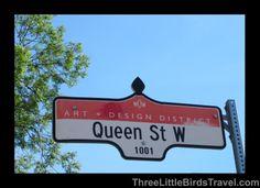 Famous Queen St in Toronto, Canada
