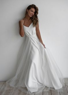 Transformer A-line dress separate lush sparkly skirt. Long Sleeve Wedding, Wedding Dress Sleeves, One Shoulder Wedding Dress, Wedding Gowns, Ivory Dresses, Nice Dresses, Sheath Dress, I Dress, Sparkly Skirt