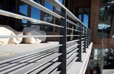 contemporary exterior metal handrail - Google Search