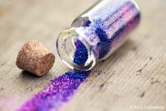 Purple shiny glitter <3