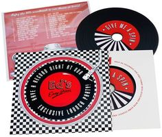 Ed's Easy Diner, Vinyl Style, Launch Party, Scotland, Wallets, Wedding Invitations, Product Launch, Colour, Band