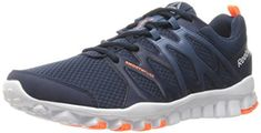 Reebok Mens Realflex Train 40 Running Shoe Collegiate NavyBrave BlueWhiteWild OrangePewter 11 M US *** See this great product. (This is an affiliate link) #FitnessShoesForMen