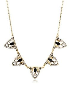 60% OFF Yochi Crystal Ornament Necklace