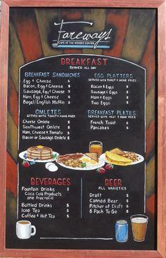 Fareways Breakfast Chalkboard Menu