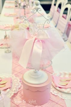 Tutus & Ties 4th Birthday Party via Kara's Party Ideas KarasPartyIdeas.com Cake, desserts, party supplies, printables, favors and more! #tutusandties #ballerinaparty #balletparty #balletpartyideas (5)