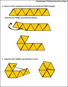 Custom Hexaflexagon Folding Instructions 4