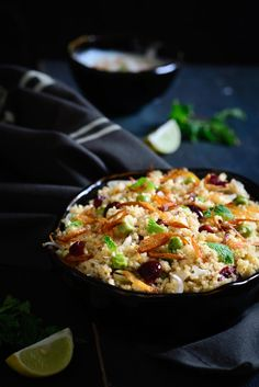 Foxtail Millet Berry Pulao is a healthy and delicious dish which can be substituted for Rice Pilaf. Lunch Recipes, Vegetarian Recipes, Healthy Recipes, Healthy Food, Meat Recipes, Millet Recipes, Mediterranean Quinoa Salad, Indian Food Recipes, Ethnic Recipes
