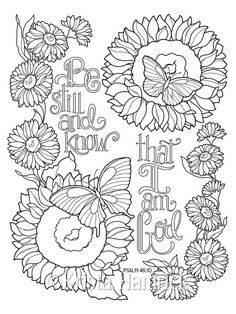 Inspirational Butterfly Garden series of three coloring pages in two sizes: Bible journaling Bible Verse Coloring Page, Love Coloring Pages, Printable Adult Coloring Pages, Coloring Books, Coloring Sheets, Children Coloring Pages, Free Coloring, Colouring Pics, Kids Coloring