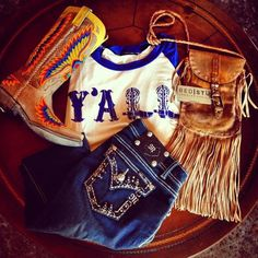 a basic cowgirls outfit <3