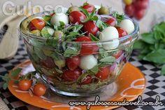 Temos uma dica maravilhosa para o #almoço, a Salada de Tomate com Manjericão, é uma deliciosa entrada ou acompanhamento.    #Receita aqui: http://www.gulosoesaudavel.com.br/2014/11/04/salada-tomate-manjericao/