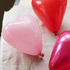 Mini heart balloons! So toot!