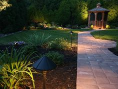 Get inspired with photos showing how lighting can make your outdoor areas beautiful and functional.
