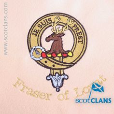 Fraser of Lovat Custom Embroidery @ScotClans. Free worldwide shipping available