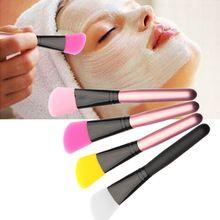 Facial Mud Mask Flat Silicone Makeup Brush Skin Face Care Cosmetic Applicator